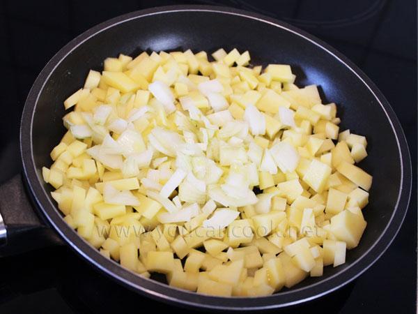 Zutaten für Spanisches Omelett