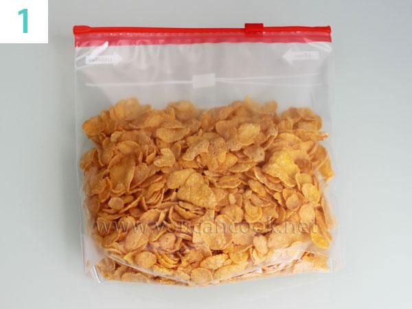 Zutaten für Frittiertes Eis - Cornflakes